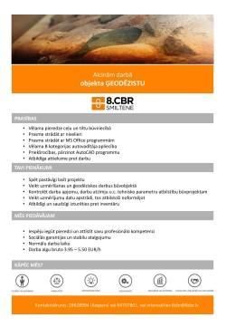 8CBR sludinajums_Geodezists